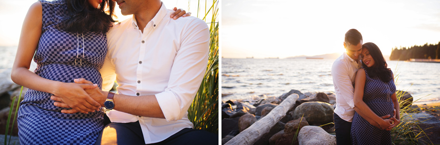 maternity photography, vancouver, second beach, newborn photography, burnaby, vancouver sunset