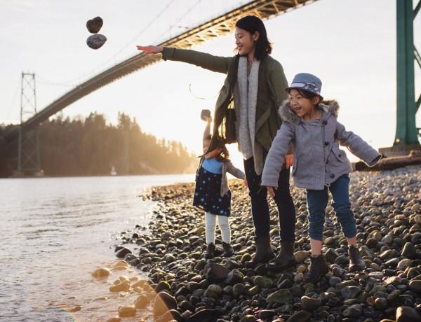 Evening Beach Adventure | Vancouver Family Photographer